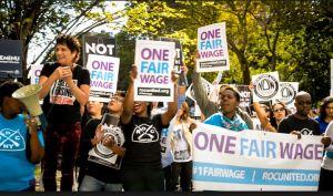 One Fair Wage means raising the minimum wage & eliminating subminimum wage.