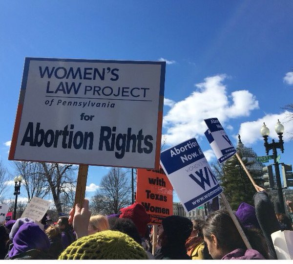 The Women's Law Project rallied with allies from Pennsylvania outside the Supreme Court during Whole Woman's Health v. Hellerstedt arguments on March 2.
