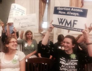 Advocates for abortion access at City Council chambers in Philadelphia