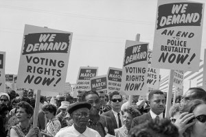 Demonstrators calling for voting rights at the 1963 March on Washington (Photo: Marion S. Trikosko)