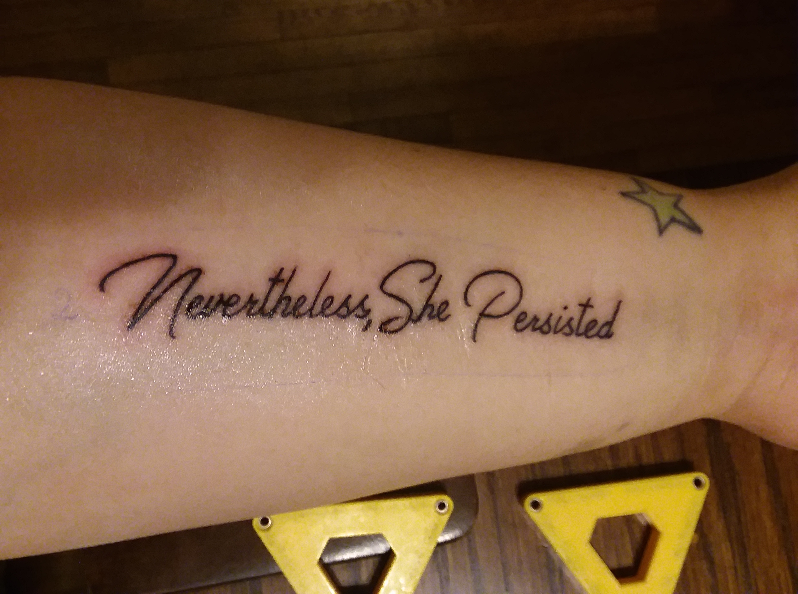 "52dc480a0 130+ Pennsylvanians get ""Nevertheless, She Persisted"" Tattoos to support  the WLP"